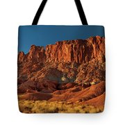 Near The Fluted Wall In Capitol Reef National Park Utah Tote Bag