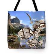 Near The Lake In The Mountain 2 Tote Bag