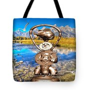Near The Lake In The Mountain 4 Tote Bag