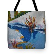 Near The Lake Tote Bag