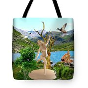 Near The Lake26 Tote Bag
