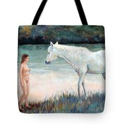 Near The Waterhole Tote Bag