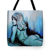 Nearly Naked Blue Ombre' Tote Bag