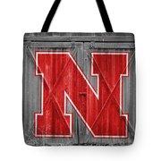 Nebraska Cornhuskers Barn Doors Tote Bag