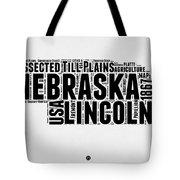 Nebraska Word Cloud 2 Tote Bag