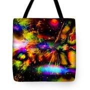 Nebula Collision Course Tote Bag