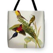 Nectarinia Gouldae Tote Bag by John Gould