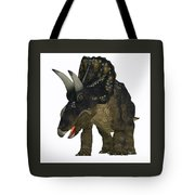 Nedoceratops On White Tote Bag
