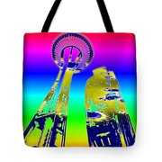 Needle And Ferris Wheel Fractal Tote Bag