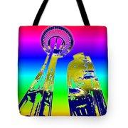 Needle And Ferris Wheel Fractal Tote Bag