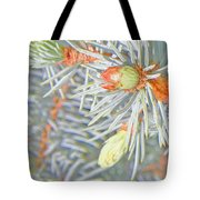 Needle Explosions Tote Bag