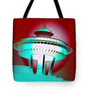 Needle In Red Tote Bag