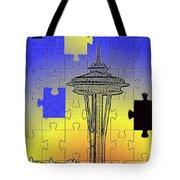 Needle Jigsaw Tote Bag