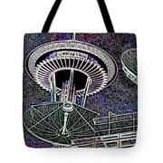 Needle Over Fisher Plaza Tote Bag