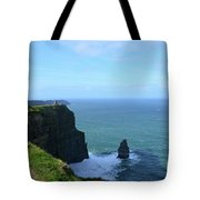 Needle Rock Formation And The Burren Pathway In Ireland Tote Bag