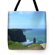 Needle Rock Formation With Blue Skies On The Cliff's Of Moher Tote Bag