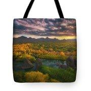 Needle Rock Sunrise Tote Bag