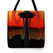 Needle Silhouette 2 Tote Bag