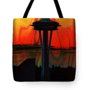 Needle Silhouette 3 Tote Bag