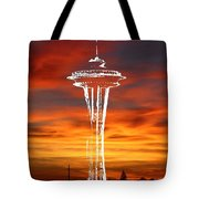 Needle Silhouette Tote Bag
