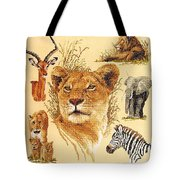 Needlework - African Animals Tote Bag