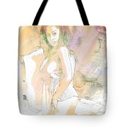Neemah African American Nude Girl In Sexy Sensual Painting 4767. Tote Bag
