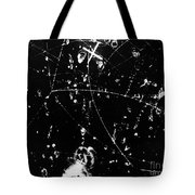 Negative K Mesons, Bubble Chamber Event Tote Bag