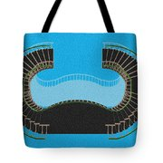 Negative Stair 45 Blue Background Architect Architecture Tote Bag