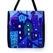 Neighborhood Blues Tote Bag