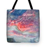 Neighborhood Sunset Tote Bag