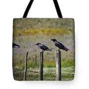 Neighborhood Watch Crows Tote Bag