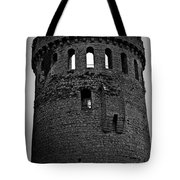 Nenagh Castle Tower Bw Tote Bag