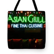 Neon Asian Grille Tote Bag