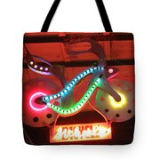Neon Bicycle Tote Bag