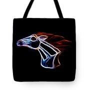 Neon Bronco II Tote Bag by Shane Bechler