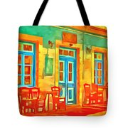 neon Cafe Tote Bag
