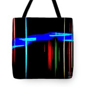 New Orleans Neon Christmas Frequency Abstract 1  Tote Bag