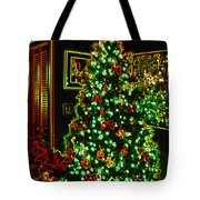 Neon Christmas Tree Tote Bag