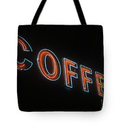 Neon Coffee Tote Bag