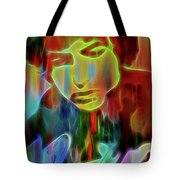 Neon Color Bob Dylan Tote Bag