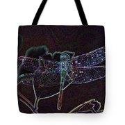 Neon Dragon Fly Tote Bag