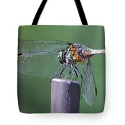 Neon Dragonfly Tote Bag