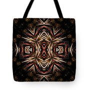 Neon Exploding Hourglass Tote Bag