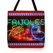 Neon Frijoles And Peppers And Gas Tote Bag