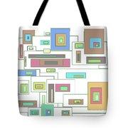 Neon Geometrics 2 Tote Bag