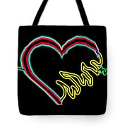 Neon Heart  Tote Bag
