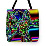 Neon Iris Tote Bag
