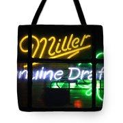 Neon Miller Beer Tote Bag
