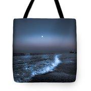 Neon Moon  Tote Bag by Kim Loftis