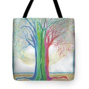 Neon Rainbow Tree By Jrr Tote Bag